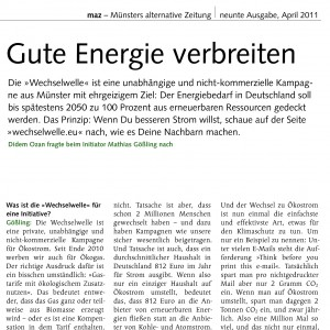 "Text aus ""Münsters Alternative Zeitung"""